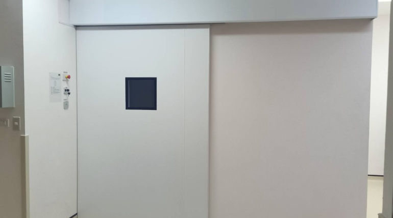 ประตูบานเลื่อนอัตโนมัติชนิดปิดแน่น (HERMETIC SLIDING DOOR)